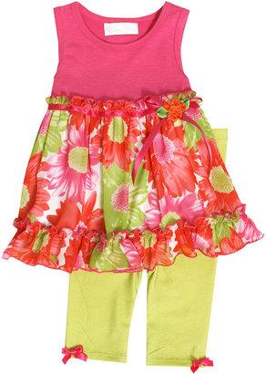 Bonnie Baby Set, Baby Girls Floral Top and Capri Leggings Set
