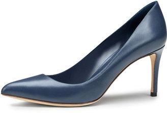 Gucci Brooke Mid-Heel Point-Toe Pump, Blue
