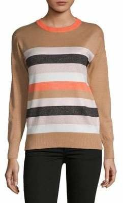 DKNY Striped Crewneck Pullover