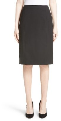 Women's Lafayette 148 New York Stretch Wool Pencil Skirt $218 thestylecure.com