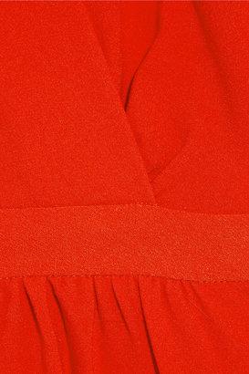 Maje Slow crepe wrap-effect dress