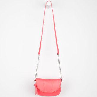 Flapover Chain Strap Crossbody Bag