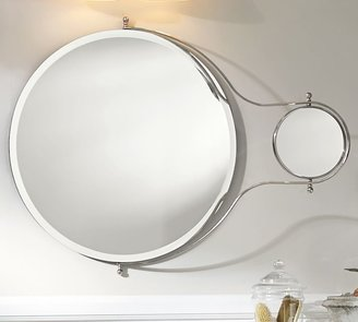 Pottery Barn Solar Pivot Mirror With Magnification Extension
