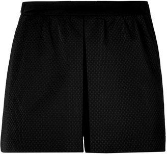 Sandro Black Pleated Shorts