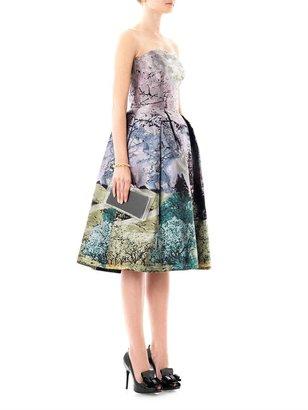 Mary Katrantzou Nevis Dijon tree-print strapless dress