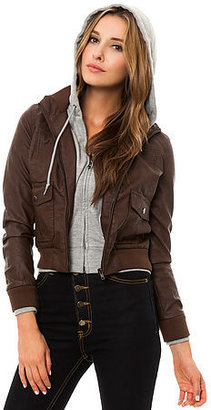 Obey The Jealous Lover Jacket in Brown Heather Grey