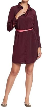 Old Navy Women's Belted Chiffon Shirtdresses