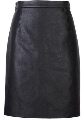 Tibi Leather Combo Mini Skirt