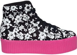 Jeffrey Campbell Hiya Platform Sneaker Black Patent