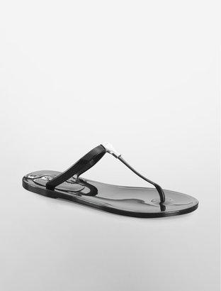 Calvin Klein Jaelee Black Jelly Thong Sandal