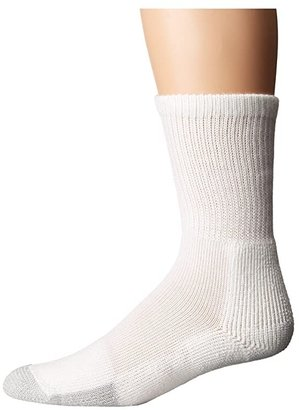 Thorlos Tennis Crew 1-Pair Pack (White) Crew Cut Socks Shoes