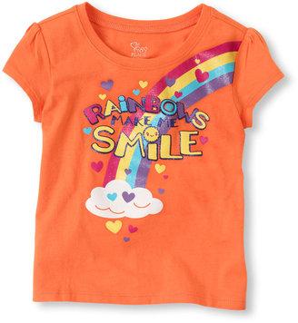 Children's Place Rainbow smile graphic tee
