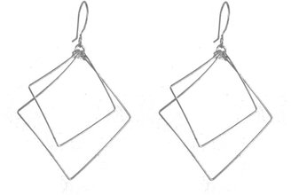 Tis tiK Silver Square Earrings