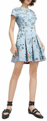 French Connection Kioa Printed Flared Dress