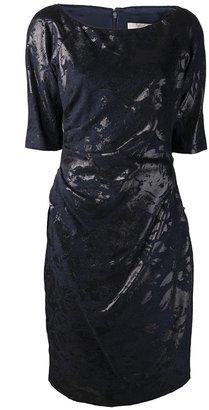 Lela Rose jacquard print dress