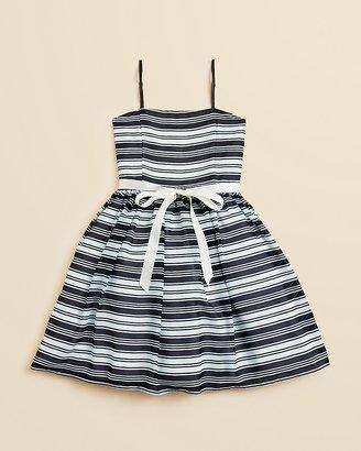 Un Deux Trois Girls' Chiffon Stripe Party Dress - Sizes 7-16