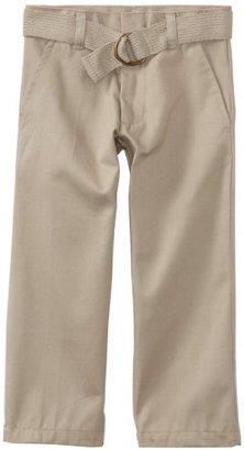 U.S. Polo Assn. U.S. Polo School Uniform Big Boys' Flat Front Belt And Pant Set