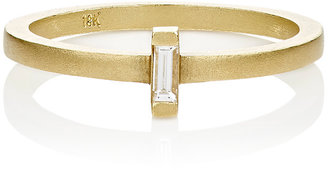 Tate Women's Baguette White Diamond Ring