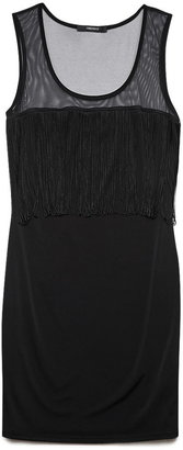 Forever 21 Flapping Fringed Bodycon Dress