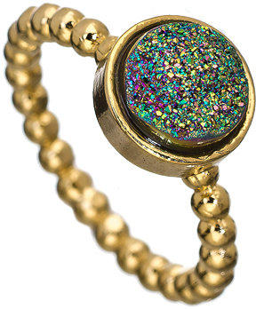 Ettinger UK Dara Gold Green Victoria Stackable Ring