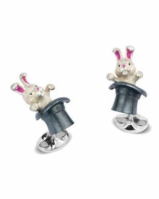 Deakin & Francis Rabbit in Hat Sterling Silver Cuff Links $500 thestylecure.com