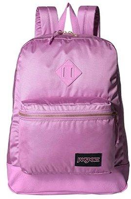 JanSport Super FX (Deep Grey Gold Premium Poly) Backpack Bags