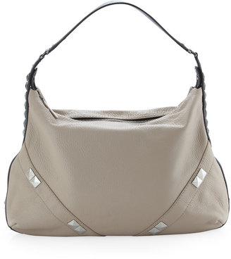 Oryany Capricorn Colorblock Stud Hobo, Tan/Black