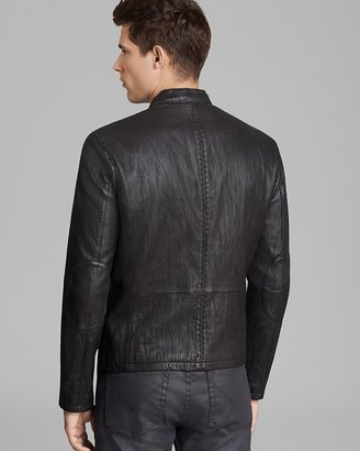 John Varvatos Collection Short Leather Jacket