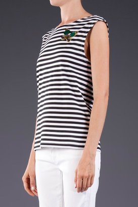 Sonia Rykiel Sonia by Butterfly and Stripe Tee