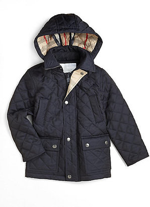 Burberry Boy's Quilted Hooded Jacket