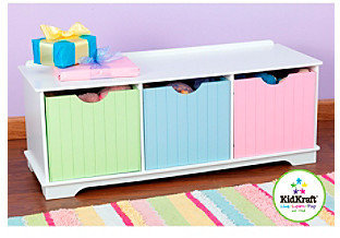 Kid Kraft Pastel Nantucket Storage Bench