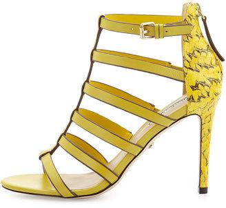 Charles David Idealize Snakeskin Strappy Sandal, Yellow