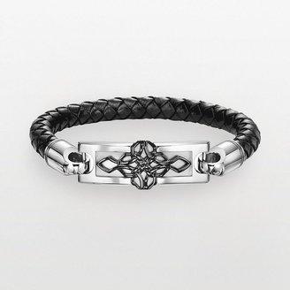 Triton Axl by stainless steel leather celtic knot bracelet - men