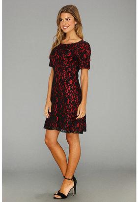 ABS by Allen Schwartz S/S Boat Neck Lace Dress