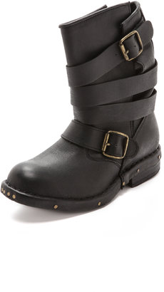 Jeffrey Campbell Brit Wrap Strap Booties