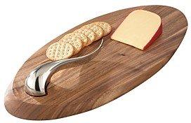 Nambe Swoop Cheese Board & Knife