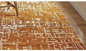 Crate & Barrel Celosia Orange Hand Knotted Rug