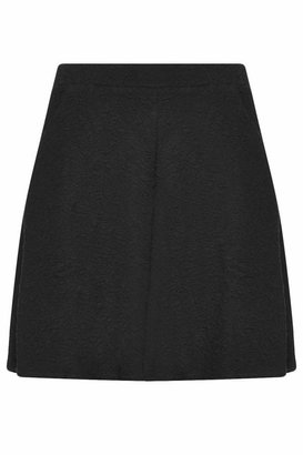 Topshop Black skater skirt with animal print jacquard detail. 54% cotton, 42% polyester, 4% elastane. machine washable.
