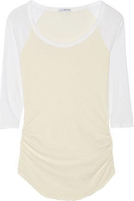 James Perse Raglan-sleeve stretch-cotton jersey top