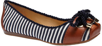 Gianni Bini Sawyer Nautical-Stripe Flats