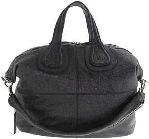 Givenchy Medium Textured Patent Nightingale - Black
