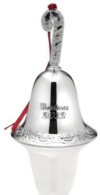 Mikasa Grande Baroque by Wallace® 2012 Silver Plated Bell Ornament, 18th Edition