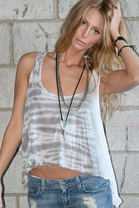 Blue Life Bare Belly Tank in Natural