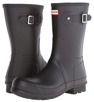 Hunter Short Rain Boots (Black) Men's Rain Boots