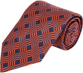Duchamp Checkered Jacquard Neck Tie