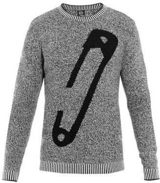 McQ by Alexander McQueen Fair Isle safety-pin jumper