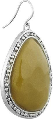 Miriam Salat Single Nugget resin and crystal earrings
