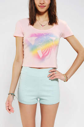 Truly Madly Deeply Zebra Mist Cropped Tee