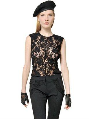 Nina Ricci Wool Lace Top