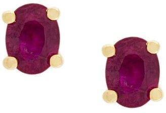 Wouters & Hendrix Gold Ruby Stud Earrings
